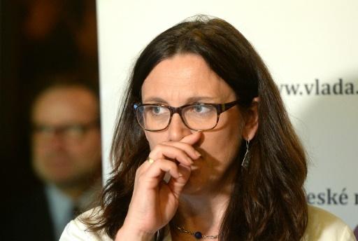 La Commissaire européenne au Commerce Cecilia Malmström le 5 juin 2015 à Prague (AFP/Michal Cizek)