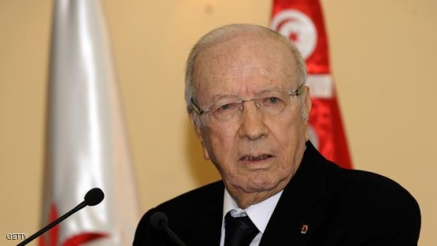 """Opposition leader and former premier Beji Caid Essebsi addresses a press conference on October 19, 2012 in Tunis. Essebsi, a staunch opponent of the ruling Islamist party Ennahda, branded the death of a senior party official during violence in southern Tunisia the """"first political assassination since the revolution,"""" in reference to to the death of Lotfi Naguedh.  AFP PHOTO / FETHI BELAID        (Photo credit should read FETHI BELAID/AFP/Getty Images)"""