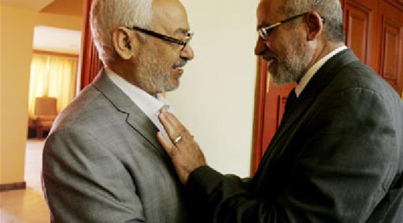 الغنوشي مع  مرشد الاخوان محمد بديع