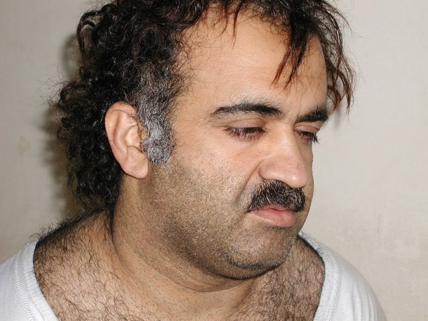 Khalid Sheikh Mohammed is seen during his arrest in this March 1, 2003 file photo. Accused September 11 mastermind Khalid Sheikh Mohammed and four suspected co-conspirators were referred on April 4, 2012 to trial before a Guantanamo war crimes tribunal on charges that could carry the death penalty, the Pentagon said. The five are charged with terrorism, hijacking aircraft, conspiracy, murder in violation of the law of war and other counts. REUTERS/Courtesy U.S. News & World Report/Handout/Files  (UNITED STATES - Tags: CRIME LAW CIVIL UNREST POLITICS)
